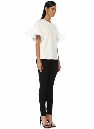 Victoria Victoria Beckham Victoria Victoria Beckham  Kolu Volan Detaylı T-shirt 101500184 Beyaz